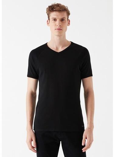 Mavi Erkek  V Yaka Basic Tişört 061313-902 Siyah